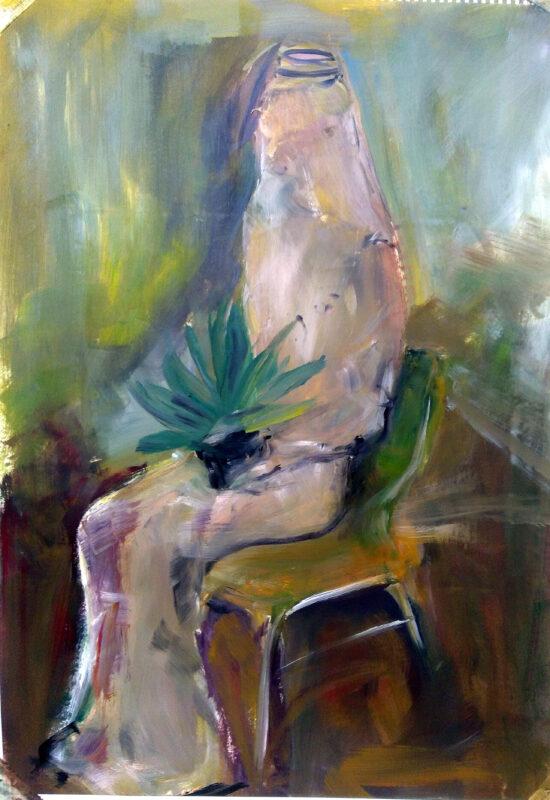 Portrait mit Strumpf