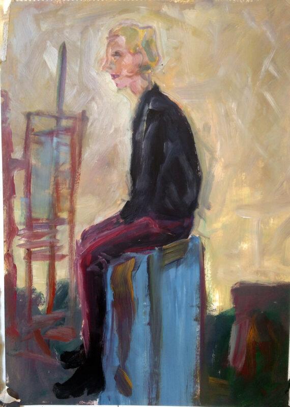 Portrait sitzend